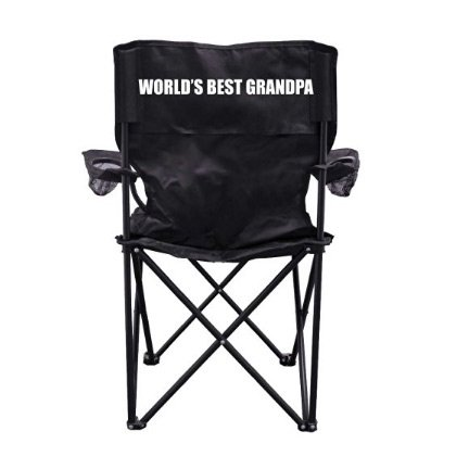 World's Best Grandpa Camping Chair with Carry Bag