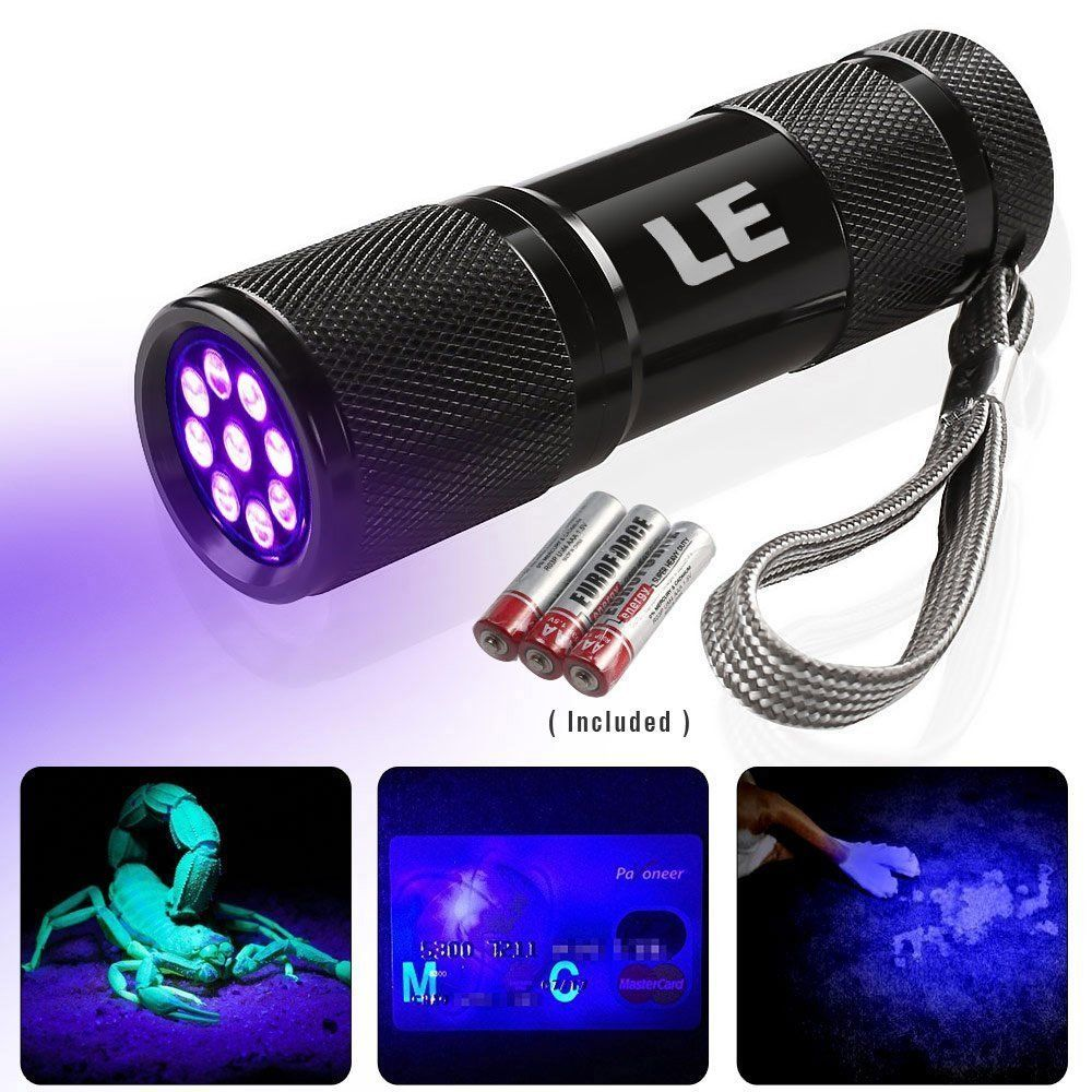Lighting EVER Ultra Bright Violet LED Flashlight Blacklight Pet UV Urine&Stain Detector Torch by Home EVER Inc.