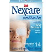 Nexcare Sensitive Skin Regular Orthoptic Eyepatch, 3.18 in x 2.18 in