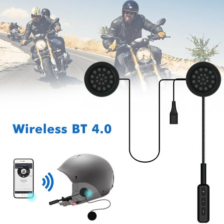 EEEKit Motorcycle Helmet Bluetooth Headset, Motorcycle Intercom Headset, Wireless Helmet Speaker, Wireless Helmet Communication Systems for Motor