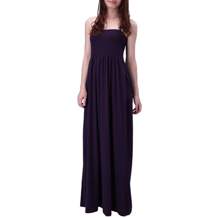 HDE - HDE Women\'s Strapless Maxi Dress Plus Size Tube Top Long Skirt ...