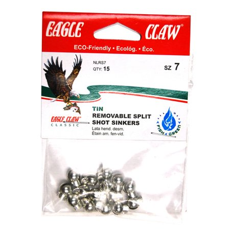 (Eagle Claw Bass Casting Removable Split Shot, Tin)