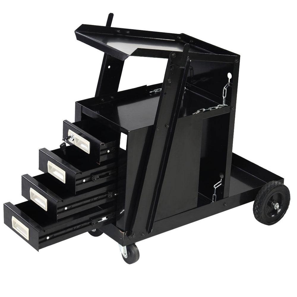 UBesGoo Welding Welder Cart Tank Storage w/4 Drawer Cabinet for MIG TIG ARC Plasma Cutter