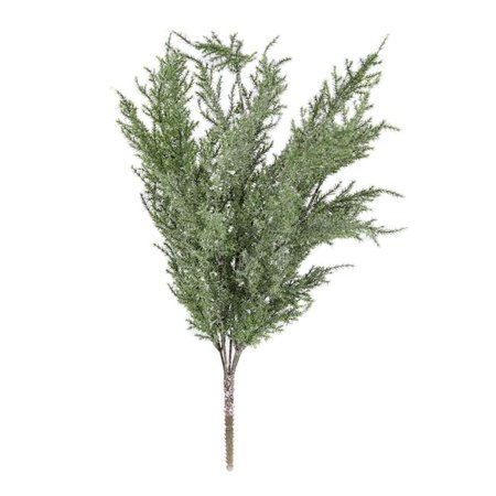 7 Stems Faux Cedar Spray Christmas Decoration, Snow Mist