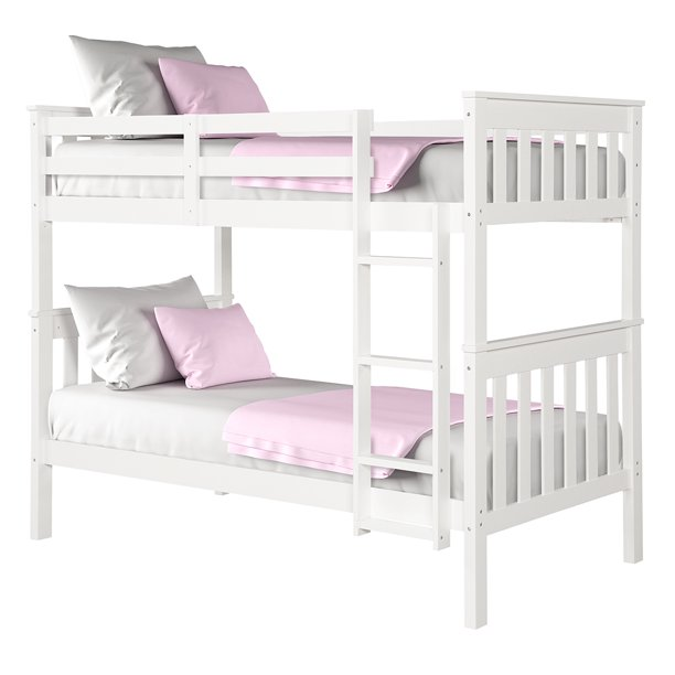 Angel Line Brandon Twin over Twin Bunk Bed, White