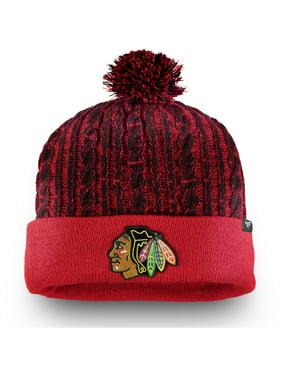 Chicago Blackhawks Fanatics Branded Women's Iconic Ace Cuffed Knit Hat with Pom - Red - OSFA