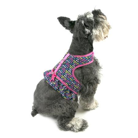 vibrant life ruffle hearts dog harness small. Black Bedroom Furniture Sets. Home Design Ideas