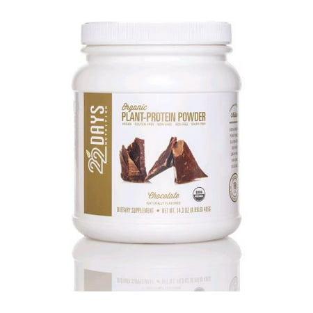 22 Days Nutrition usine de protéines en poudre - Bio - Chocolat - 14,3 oz