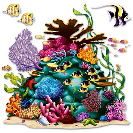 Club Pack of  12 Ocean Coral Reef Wall Decoration 5' 3