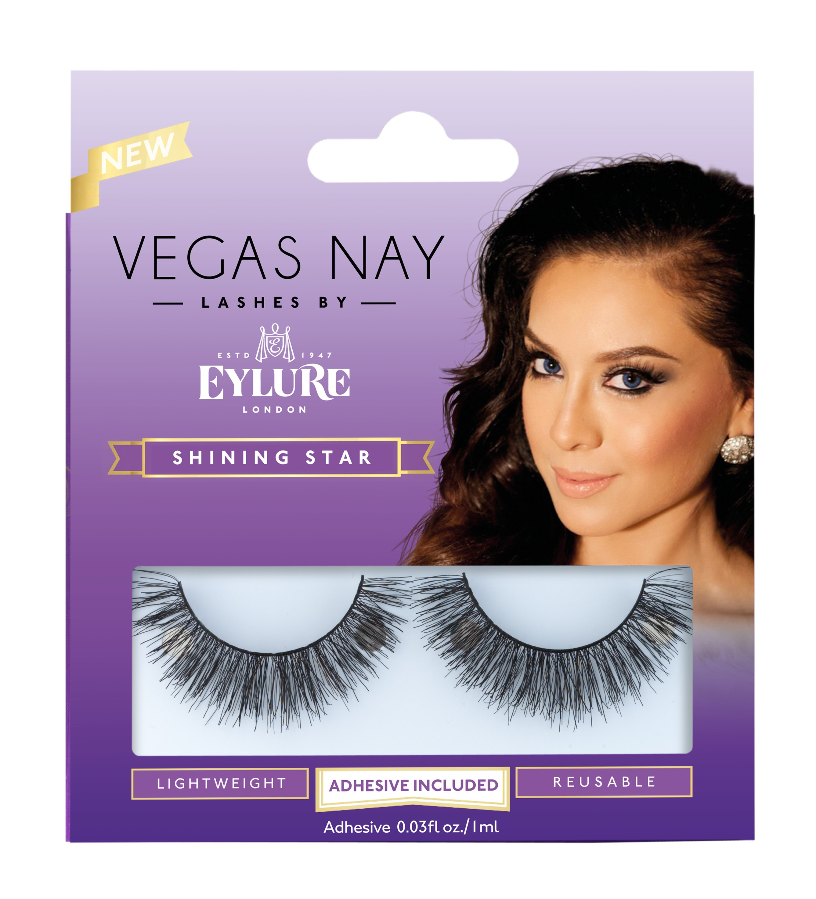 Vegas Nay by Eylure Shining Star Eyelashes Kit, 2 pc