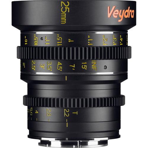 Veydra Mini Prime 25mm T2.2 Sony E Mount Imperial Scale Lens V1-25T22SONYEI