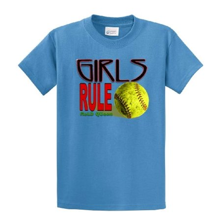 Softball T-Shirt Girls Rule Field Queen-carolina-small