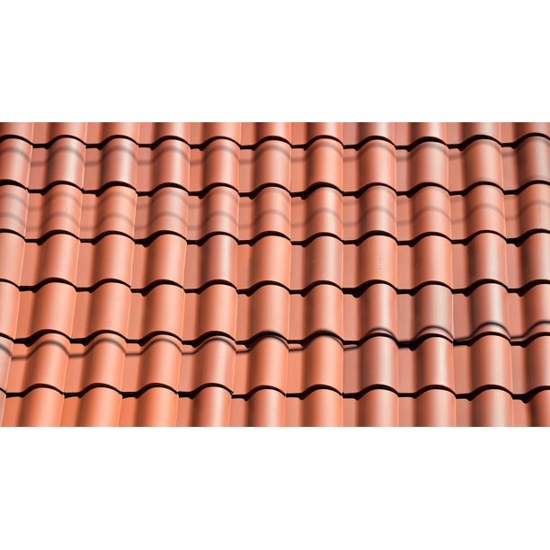 Clay Tile Roof Architecture Background Design 20 Inch By 30 Inch Laminated Poster With Bright Colors And Vivid Imagery Fits Perfectly In Many Attractive Frames Walmart Com Walmart Com