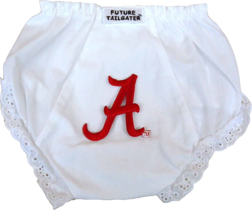 Alabama Crimson Tide Eyelet Baby Diaper Cover by Future Tailgater