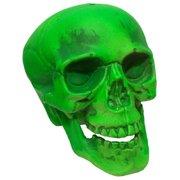 "Green Skeleton Skull 7"" Prop Haunted House Halloween Decor Decoration"