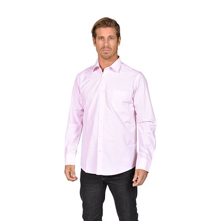 Mens long sleeve button down shirts needle stitch light for Pastel pink button down shirt