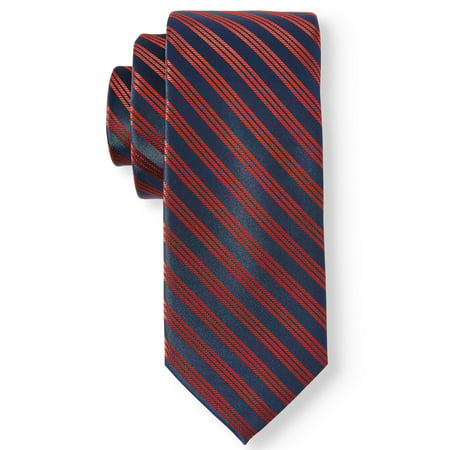 Haines & Bonner Men's Red/Navy Stripe Tie Brooks Brothers Striped Tie