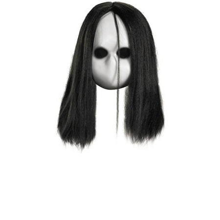 Blank Black Eyes Doll Mask Adult Halloween Accessory for $<!---->