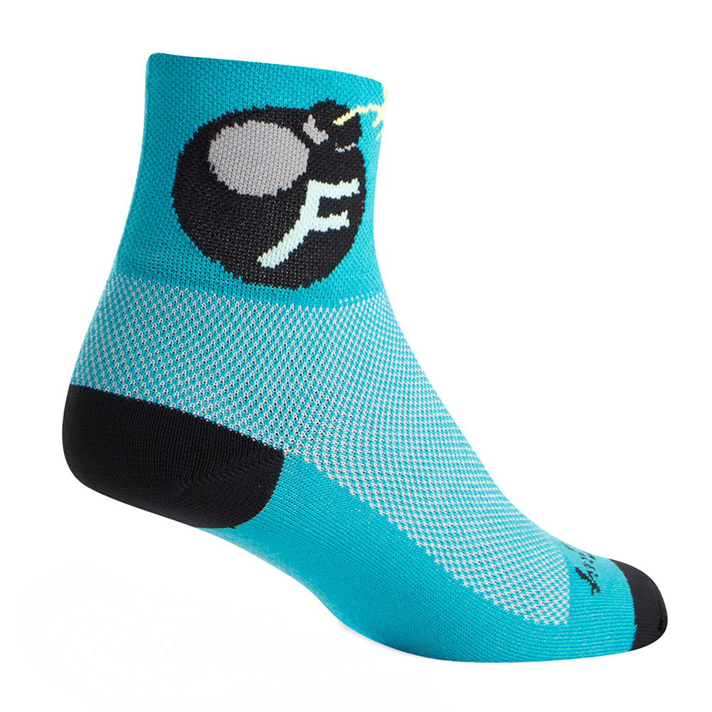 "Socks - SockGuy - Classic 3"" Hell Cat S/M Cycling/Running"
