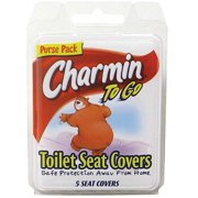 Charmin To Go Toilet Seat Covers 5 ea (Pack of 6)