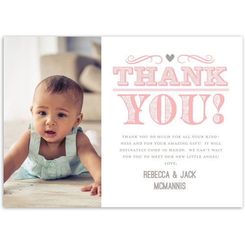 A Baby is Brewing Baby Thank You Card