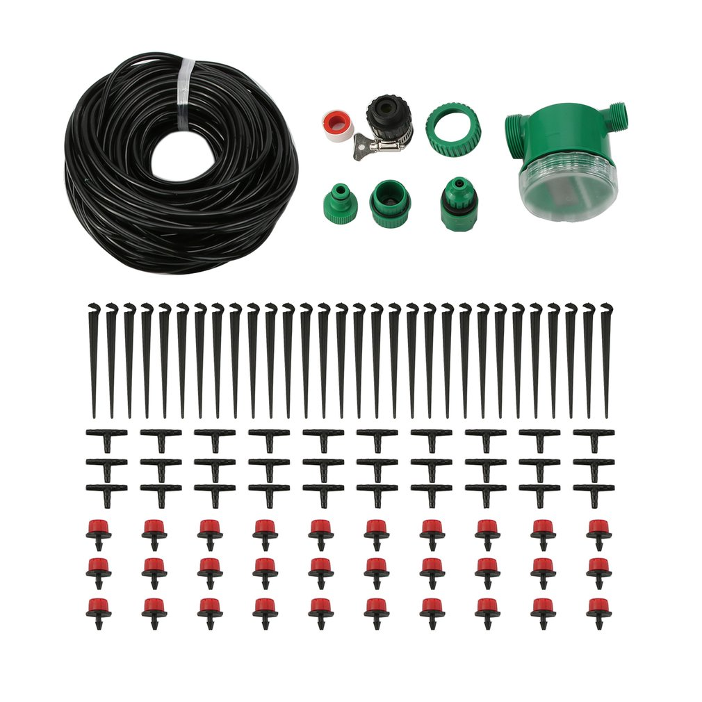 25m Automatic Drip Irrigation System Plant Self Watering Kit With Hose Timer