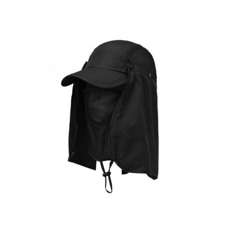 46c00ff36f1 Hiking Fishing Hat Outdoor Sport Sun Protection Neck Face Flap Cap Wide  Brim - Walmart.com