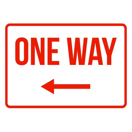 Arrow Traffic Sign (One Way Left Arrow No Parking Business Safety Traffic Signs Red -)