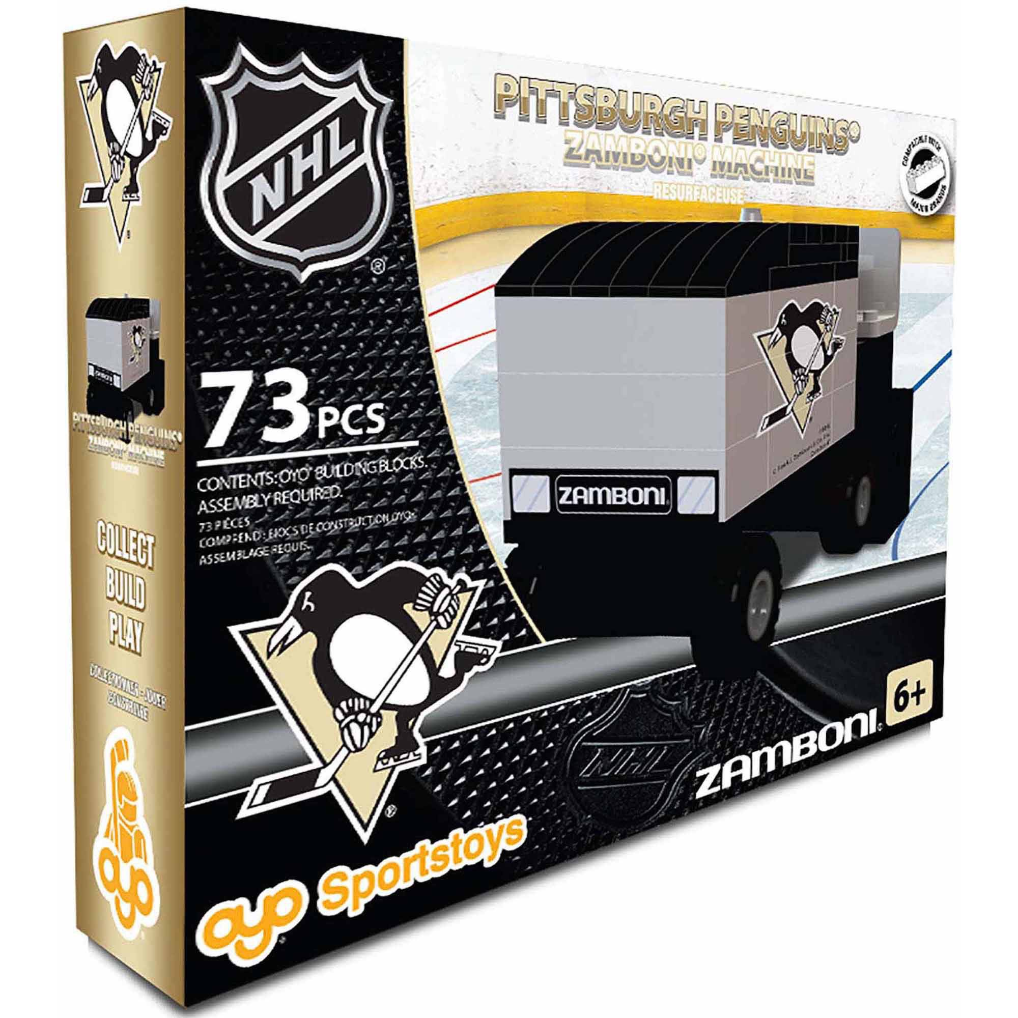 OYO Sports NHL 73-Piece Zamboni Building Block Set, Pittsburgh Penguins