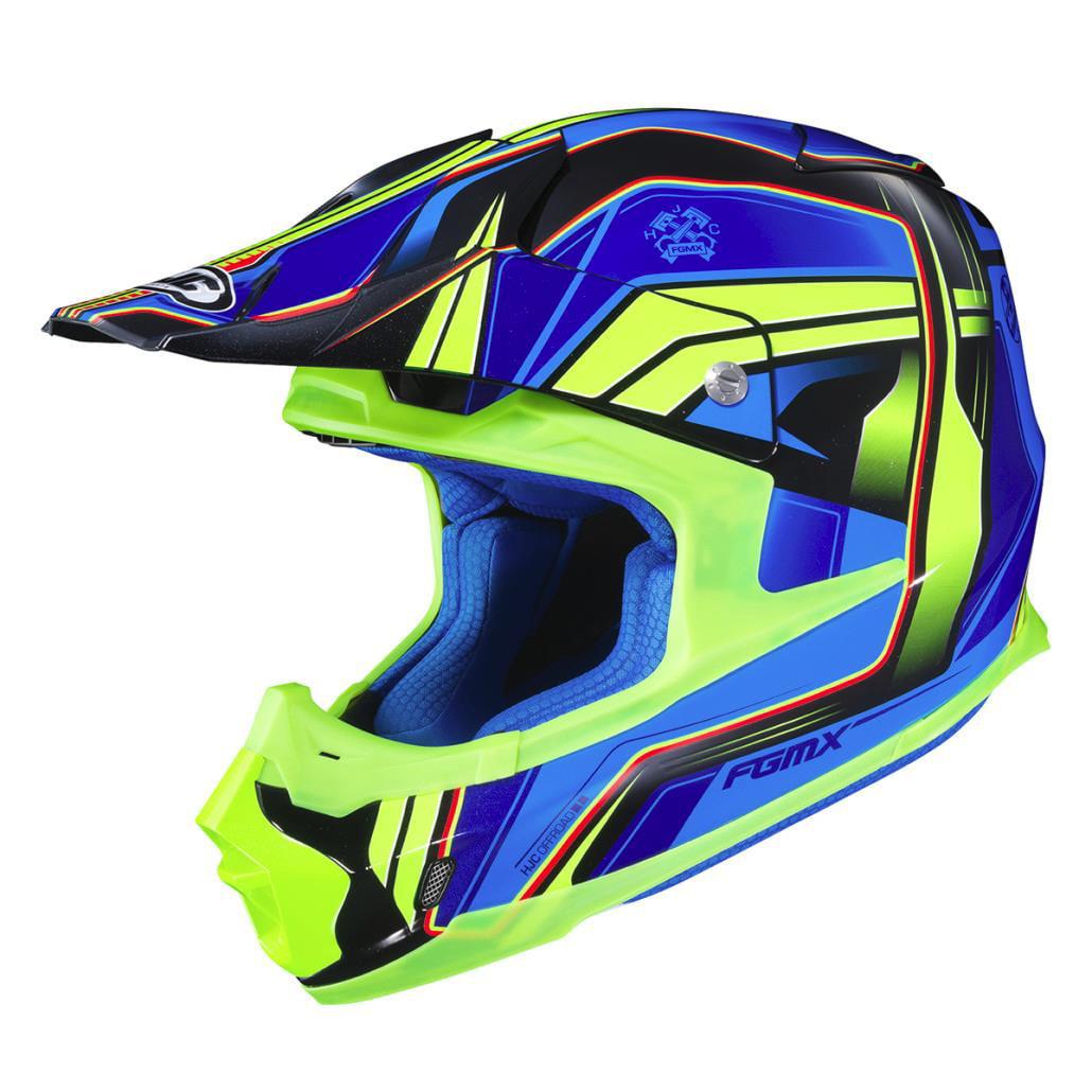 HJC FG-MX Piston Helmet Blue (MC-2) (Green, Medium)