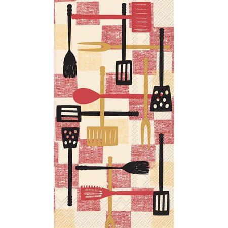 4 PACKS PAPER GUEST TOWELS/Log Cabin Canoe 4 Packs Paper Guest Towels/Log Cabin Canoe
