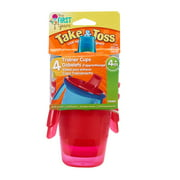 The First Years Take & Toss Hard Spout Sippy Cups With Snap-On Lids and Removable Handles, 7 Oz, 4 Pk