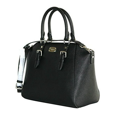 Michael Kors Ciara Large Top Zip Saffiano Leather Satchel (Black) 35H5SC6S3L-001