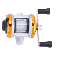 LYUMO Deukio Portable Winter Ice Fishing Reel Wheel with Wire Outdoor Casting Tackle, Ice Fishing Reel, Casting Reel