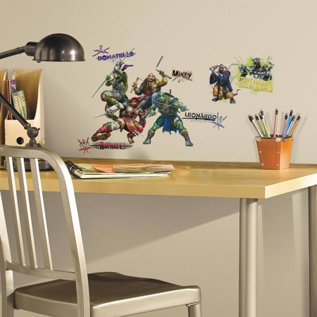 Teenage Mutant Ninja Turtles Movie Peel and Stick Wall Decals (Ninja Turtle Decals)