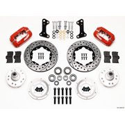 Wilwood Forged Dynalite Front Kit 11.00in Drill-Red 67-69 Camaro 64-72 Nova Chevelle