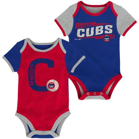 (Chicago Cubs Infant Baseball Star Two-Pack Bodysuit Set - Royal/Red)