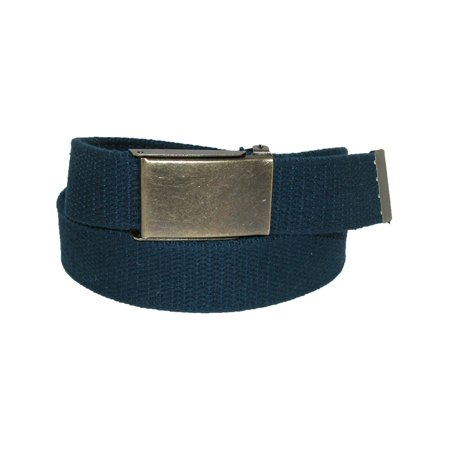 Men's Big & Tall Belt with Flip Top Brass Buckle (Pack of 3), Size: one (Big Brass Buckle)