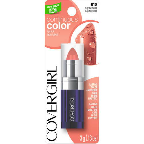 CoverGirl Continuous Color Lipstick, Sugar Almond