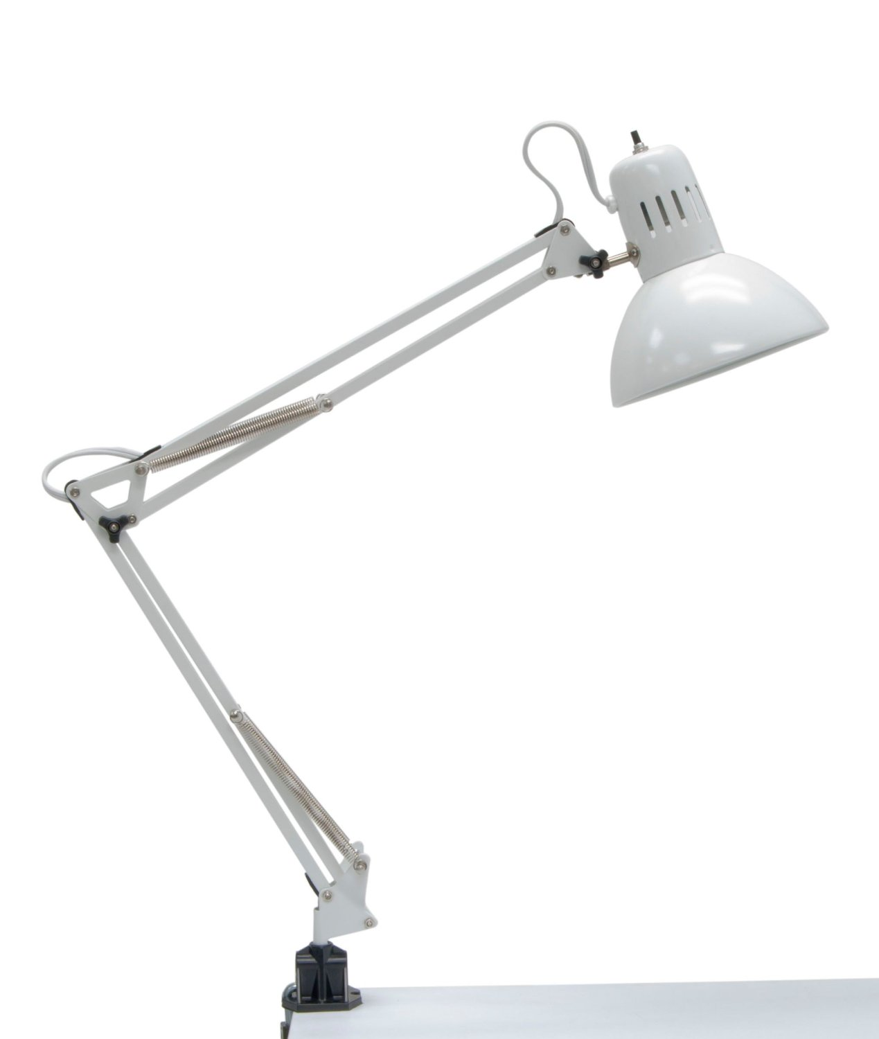 12024 Swing Arm Lamp, 13-watt, White Bulb Type_Swing Arm Lamp_with 13 Watt CFL Bulb, Ship from USA,Brand Studio... by