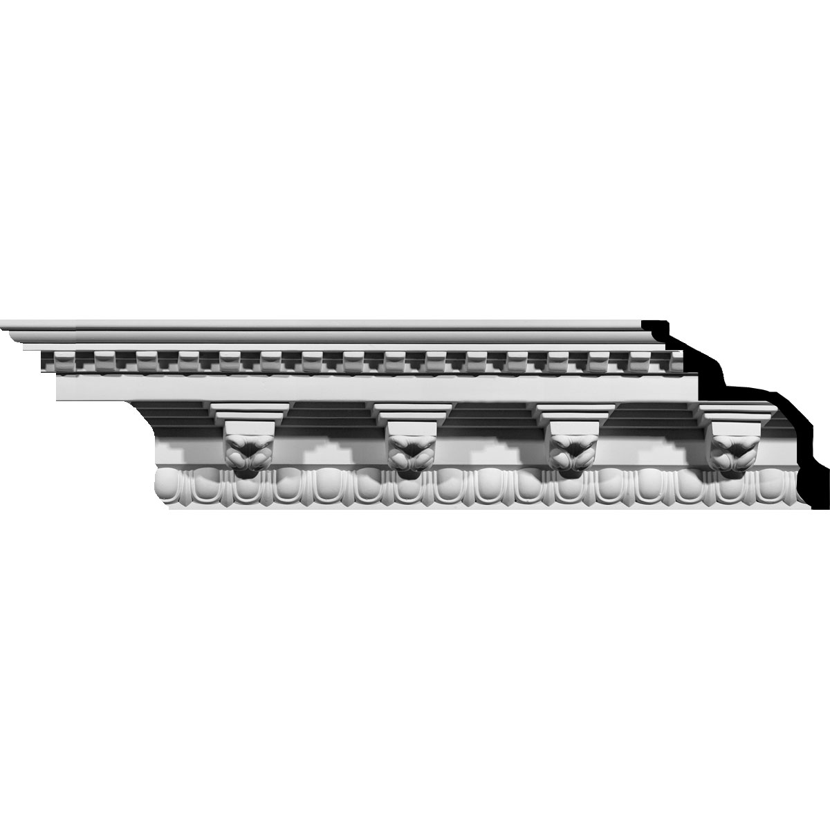 "6 1/2""H x 6 1/2""P x 9 1/4""F x 94 1/2""L Stockport Crown Moulding"