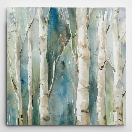 - Wexford Home 'River Birch I' by Carol Robinson Painting Print on Wrapped Canvas