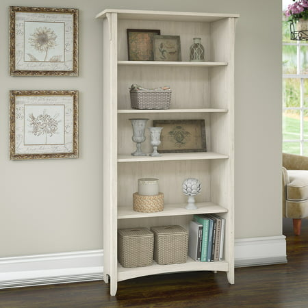 Bush Furniture Salinas 5 Shelf Bookcase in Antique