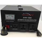 Simran Voltage Transformer Power Converter Regulator Stabilizer Power Converter BLACK (SVR-1000)