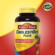 Nature Made CholestOff Plus with Plant Sterols & Stanols, Proven To Lower Cholesterol, 450mg, 200 Ct
