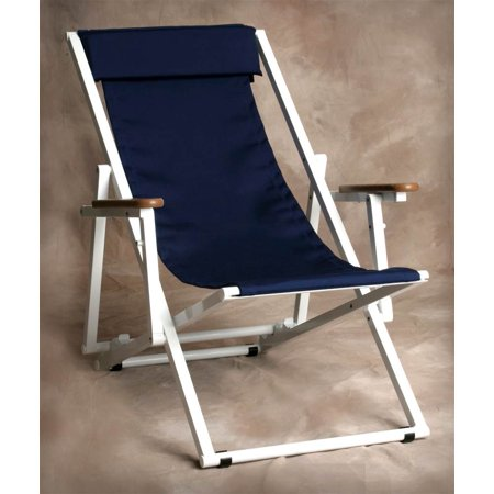 Key West Adjustable Lounge With Arms In Marine Blue
