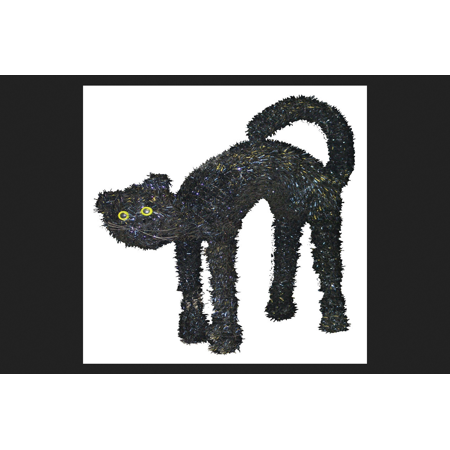 Youngcraft 3D Tinsel Cat Halloween Decoration Black](Black Tinsel)