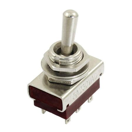 250V 5A DPDT Double Pole Double Throw On/On O/O Toggle Switch (Double Pole Double Throw Dpdt)