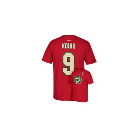 Mikko Koivu Reebok Minnesota Wild Premier Player Jersey Red T-Shirt Men's