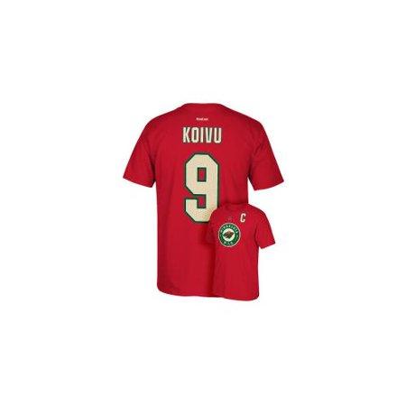 Mikko Koivu Reebok Minnesota Wild Premier Player Jersey Red T-Shirt Men
